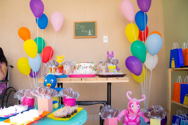Aniversário Backyardigans, mamãe sortuda, DIY, Faça Você Mesma, mãe que faz festa, aniversário 1 ano, ideias