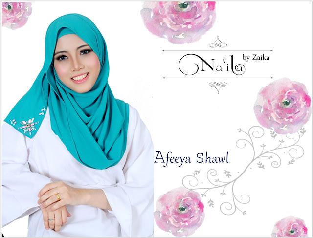 Na'ila Shawl By Zaika  Afeeya Shawl