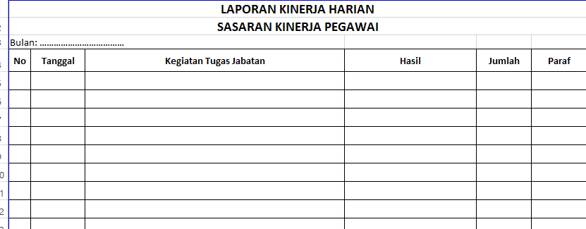 Contoh Format Laporan Harian Proyek - Contoh L