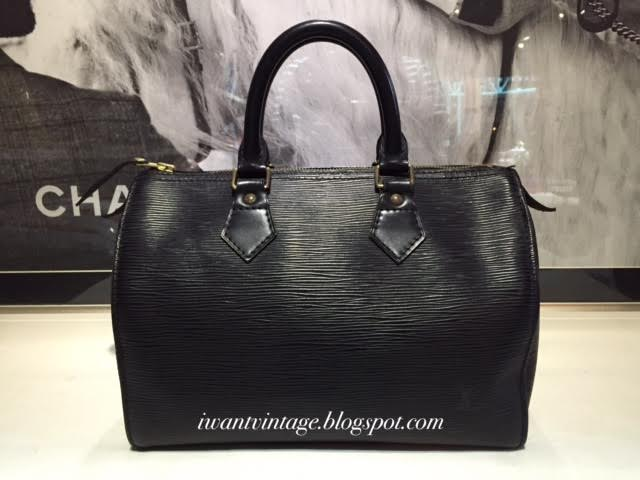 e39db845ebf0 Louis Vuitton Speedy 25 Epi Leather-Black (Vintage)