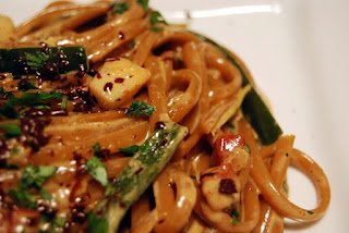 coffee pasta scallops, coffee seafood, coffee seafood ideas, uses for coffee, coffee main course, coffee main dish