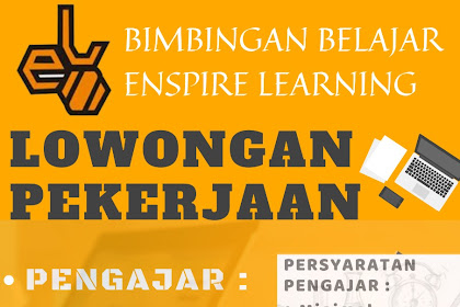 Lowongan Kerja Tasikmalaya Bimbel Enspire Learning