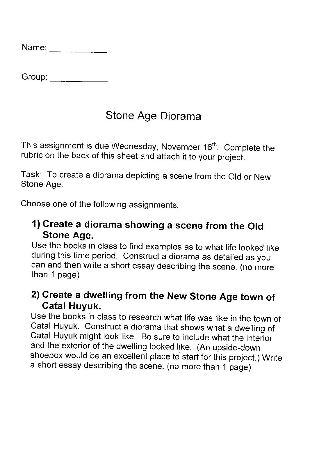The Stone Age - Essay Example
