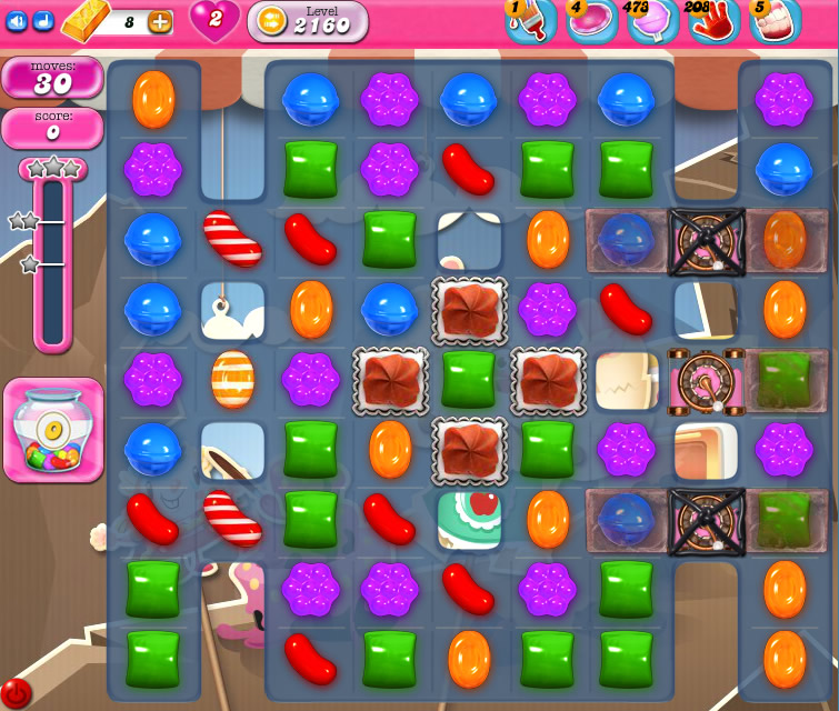 Candy Crush Saga level 2160