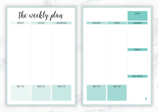 weekly priorities template