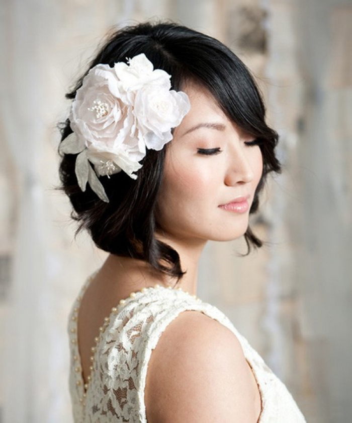 Wedding Hairstyles For Medium Thin Hair: Short Wedding Hairstyles