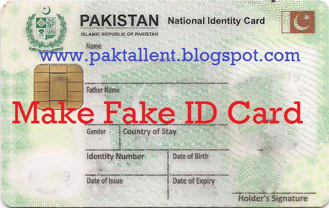 Make Fake ID Card For Verifying Your Accounts ~ Pak Talent
