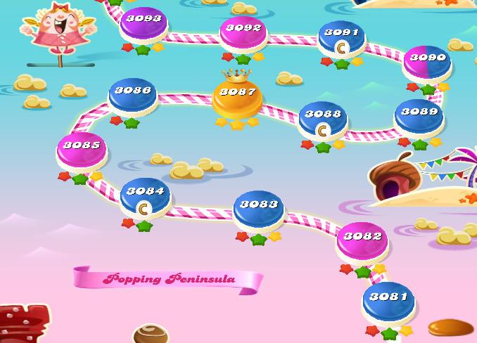 Candy Crush Saga level 3081-3095