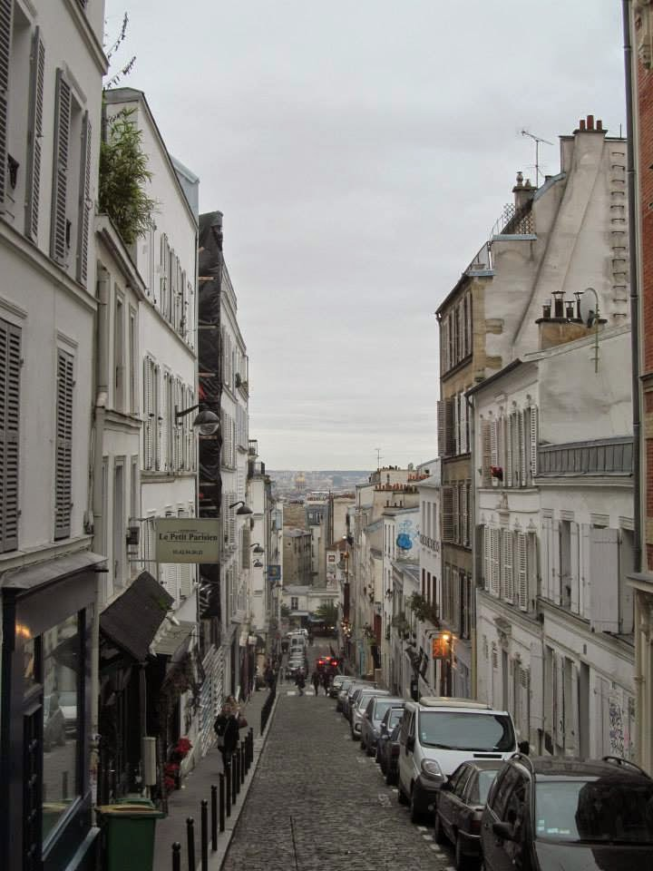 view over paris from montmarte