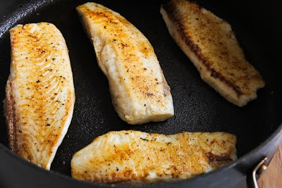 Sauteed Tilapia with Parmesan Crust found on KalynsKitchen.com