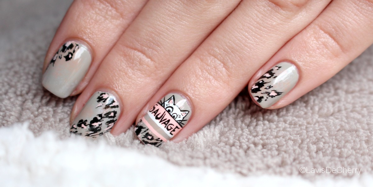 nail-art-chat-leopard-sauvage
