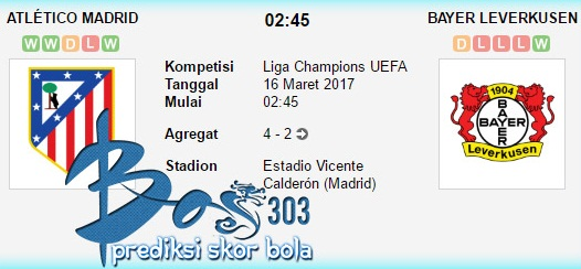 Atletico Madrid vs Bayer Leverkusen 16 Maret 2017 - Netterku.com