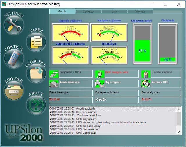 UPSilon 2000 zakładka Miernik