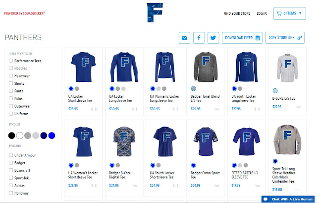 The FHS webpage has a online store to purchase Franklin clothing