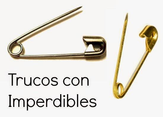 imperdibles, trucos, tecnicas, pins,manualidades, costura