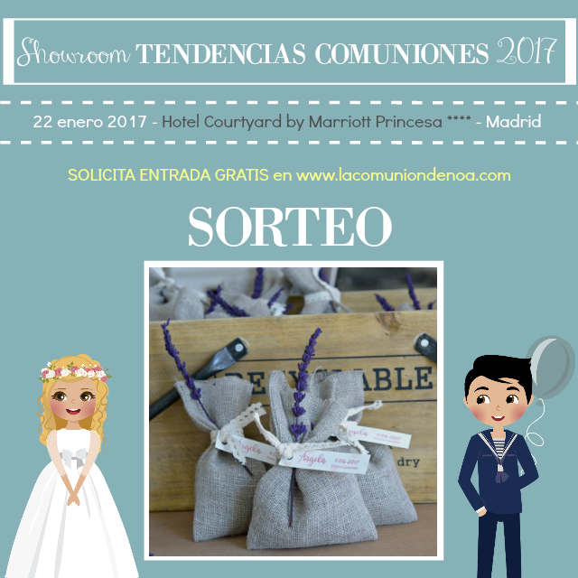 Sorteo Hecho por Kit - Showroom Tendencias Comuniones 2017 - La Comunion de Noa