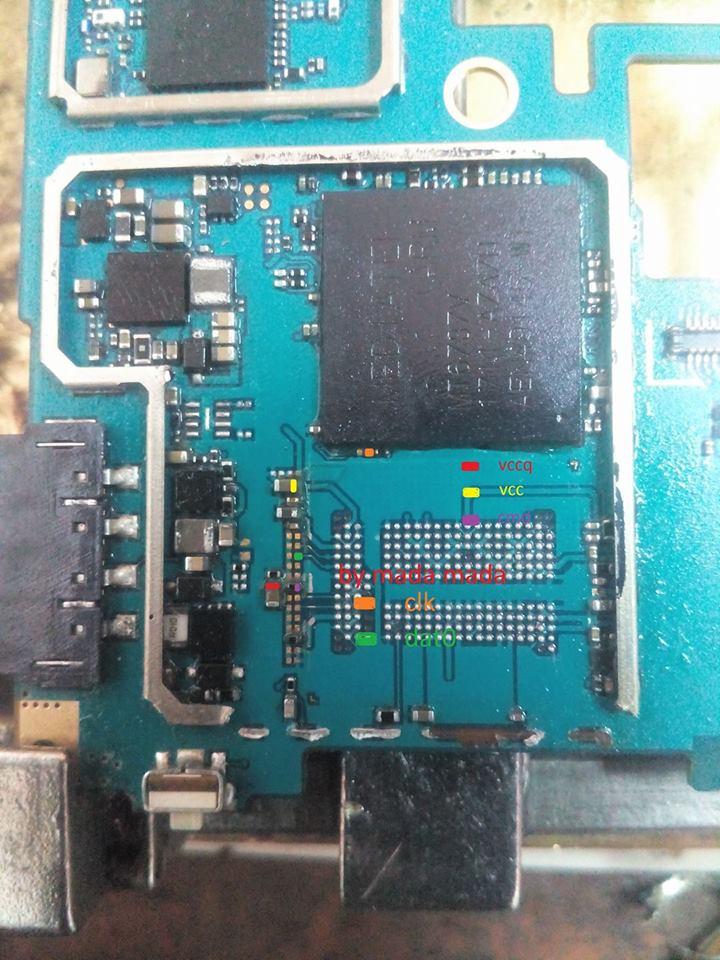 Pinout EMMC Samsung G532G J2 Prime  HELLO PONSEL