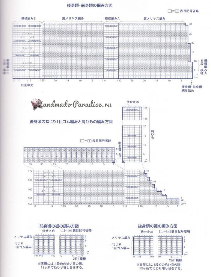Схема. Зимняя туника на бретельках (2)
