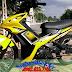 Sơn xe Exciter 2010 màu vàng đen zin
