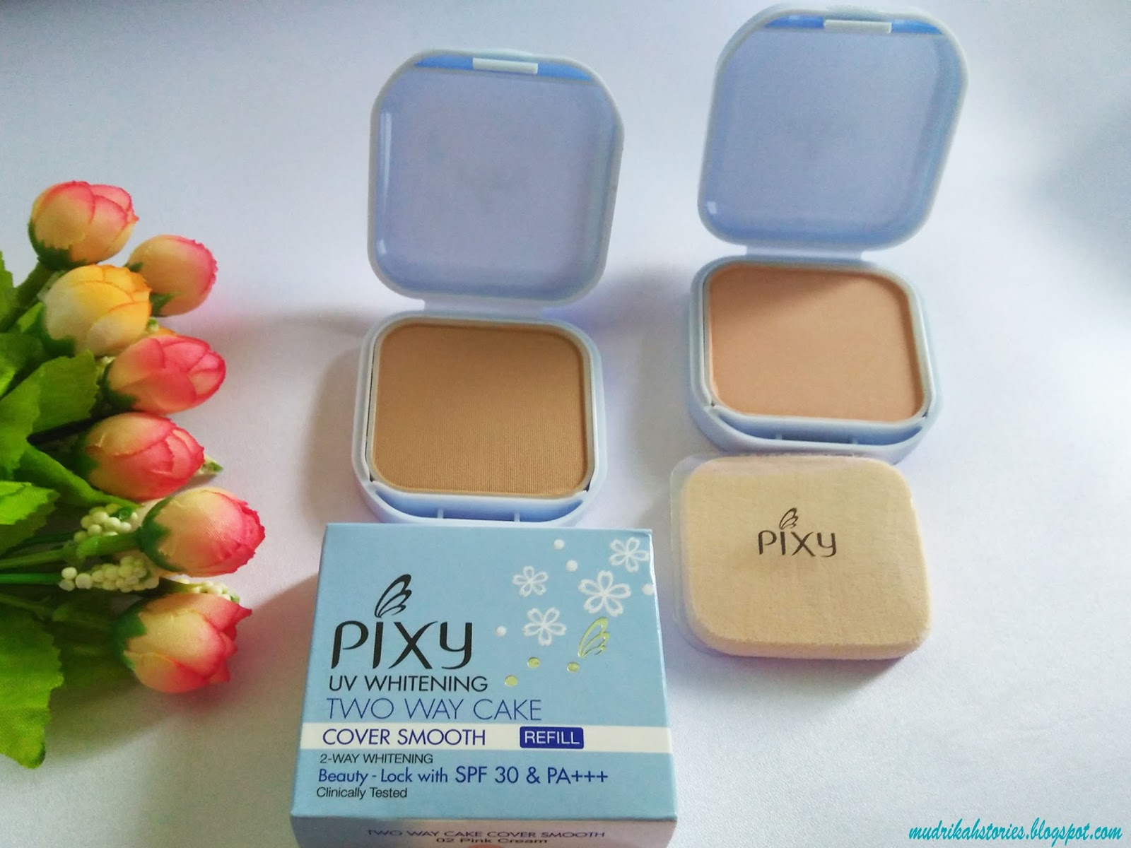 Review PIXY Two Way Cake Cover Smooth