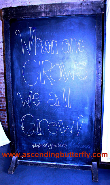 When One Grows We All Grow Sign at #WeAllGrowNYC