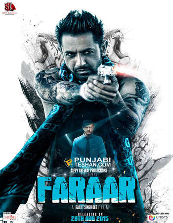 Poster Of Faraar 2015 Punjabi 450MB DVDRip 480p ESubs Free Download Watch Online