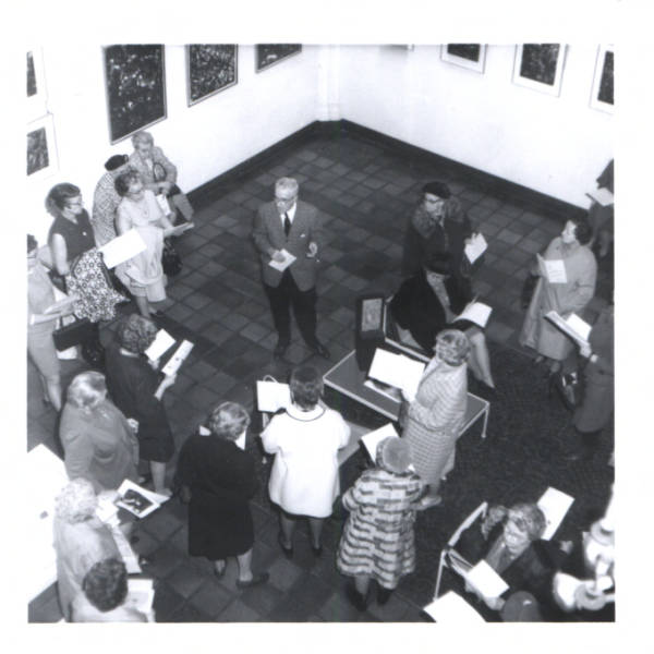 Pennsylvania's Master Artist Francis J. Quirk at opening at Lehigh Univesity