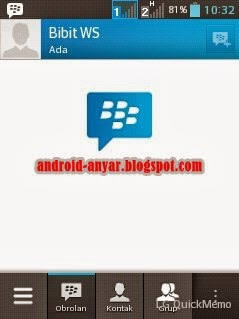 Account Sign In BBM di Android