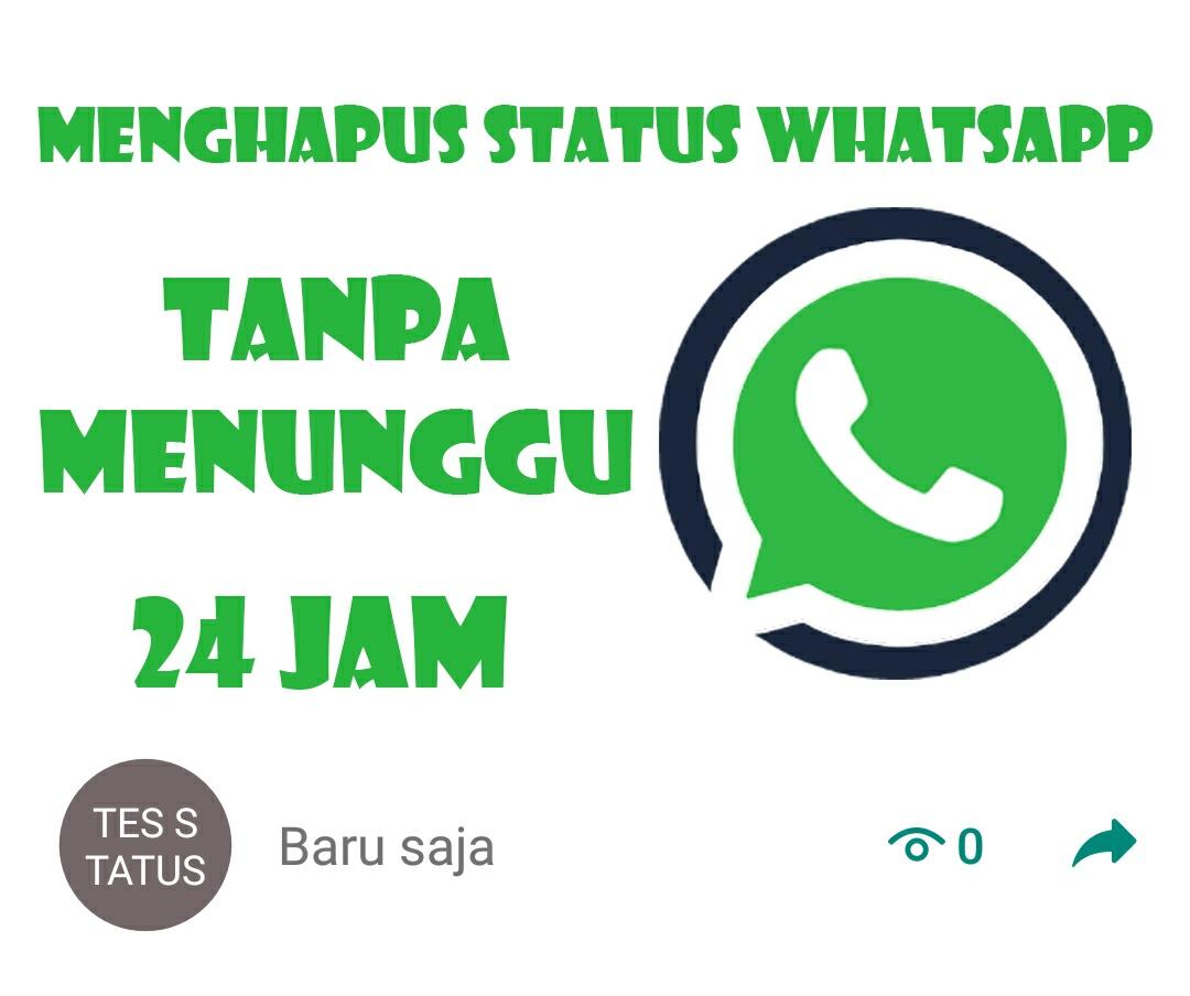 Cara Menghapus Status Whatsapp Tanpa Harus Menunggu 24 Jam