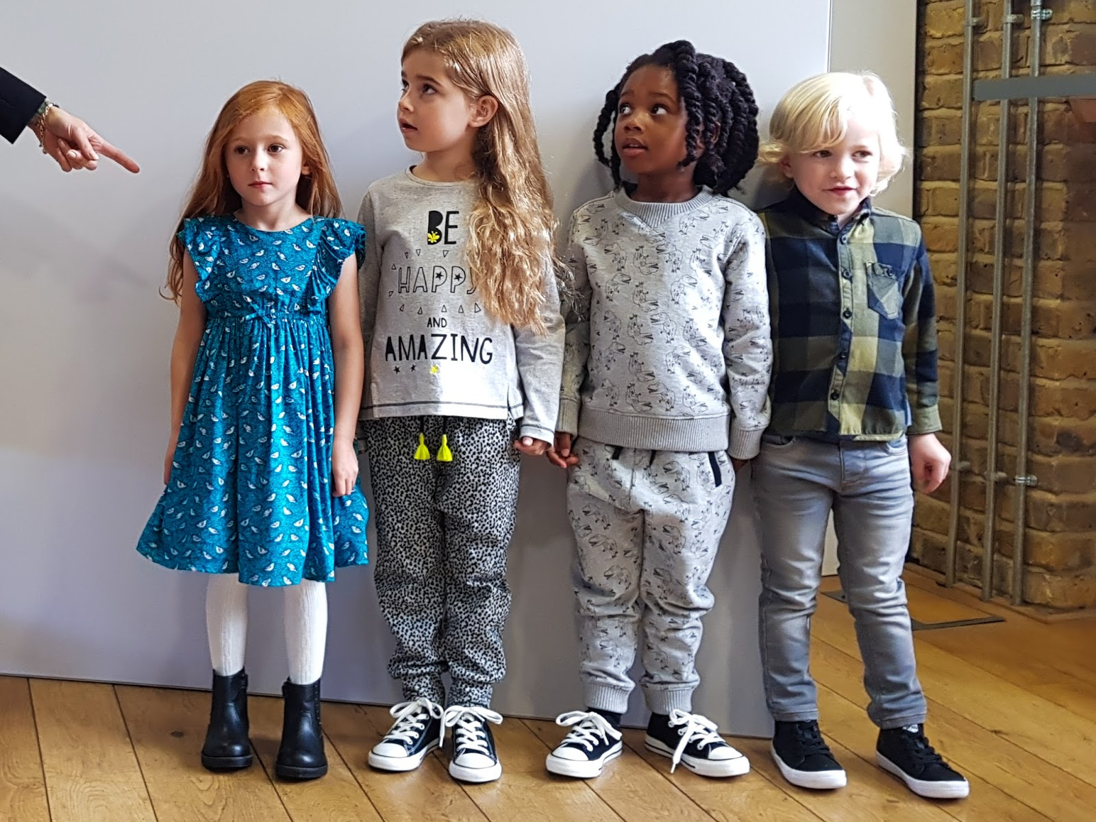 4 lovely kids modelling some of the Fearne Mini-Club clothes
