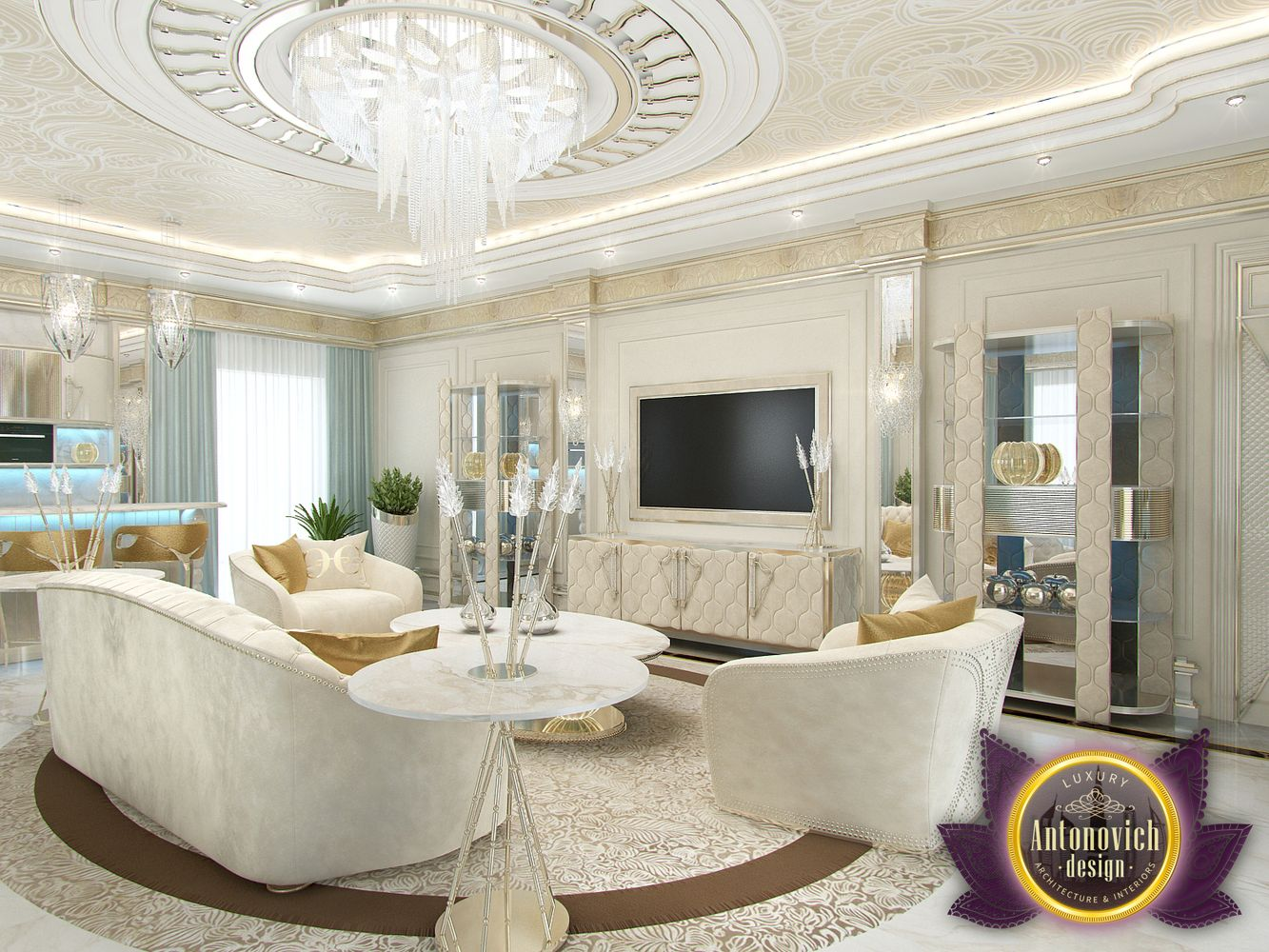 luxury antonovich design uae sitting room interior by luxury