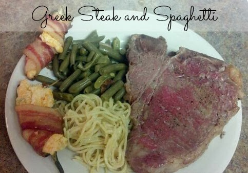 Greek Steak and Spaghetti