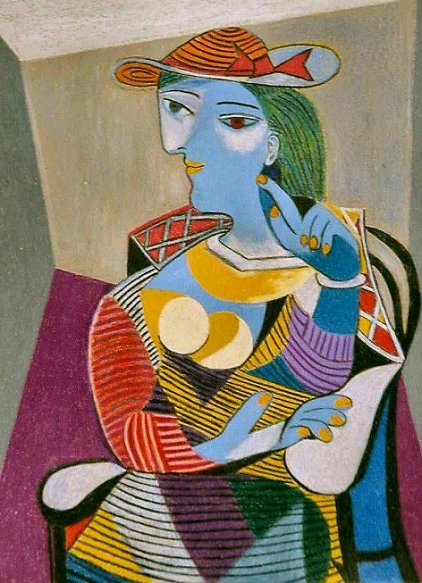 Mulher Sentada - Picasso e suas pinturas ~ O maior expoente da Arte Moderna