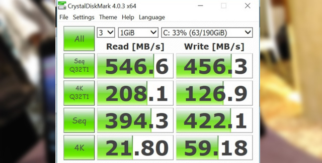 test proses Read/Write SSD