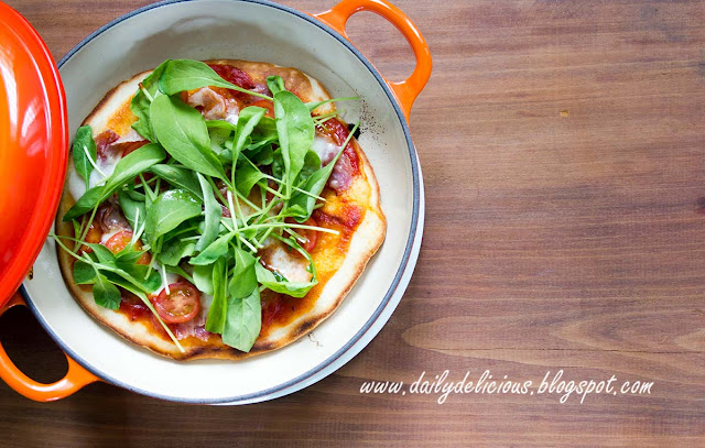 dailydelicious easy stove top pizza no oven needed