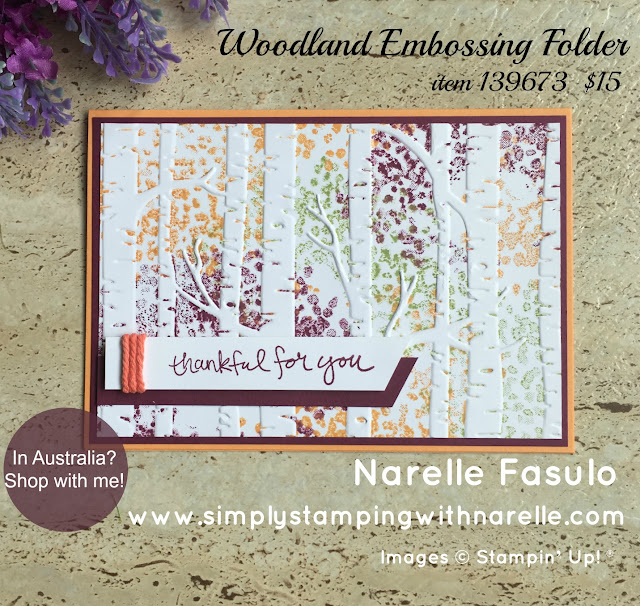 Woodland Embossing Folder - Simply Stamping with Narelle - available here - http://bit.ly/2mQlaAZ