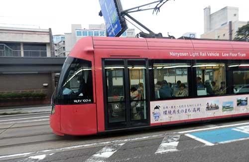 Manyosen Light Rail Takaoka, Toyama Prefecture.