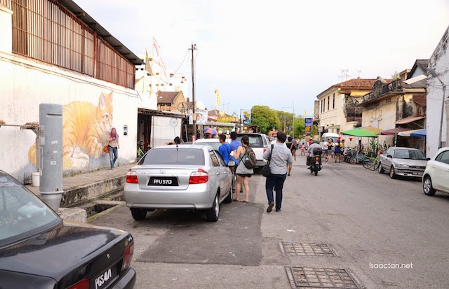 Walking along the historical streets of Penang towards Sekeping Victoria where the launch event was held