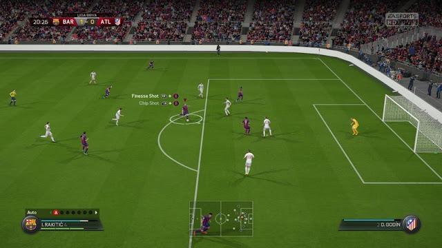 FIFA 16 jugando con los comandos del FIFA Trainer