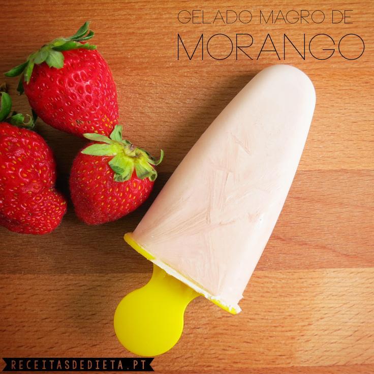 Gelado Magro de Morango