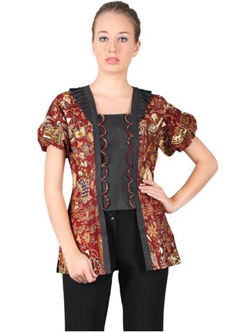 Model Baju Batik Wanita Modern Kombinasi 2020 Busana