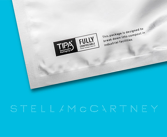 Stella McCartney mise sur le plastique compostable de TIPA