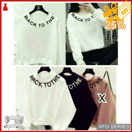 AFO203 Model Fashion Sweater Back To The Modis Murah BMGShop