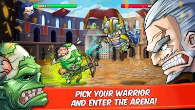 لعبة Tiny Gladiators للأندرويد، لعبة Tiny Gladiators مدفوعة للأندرويد