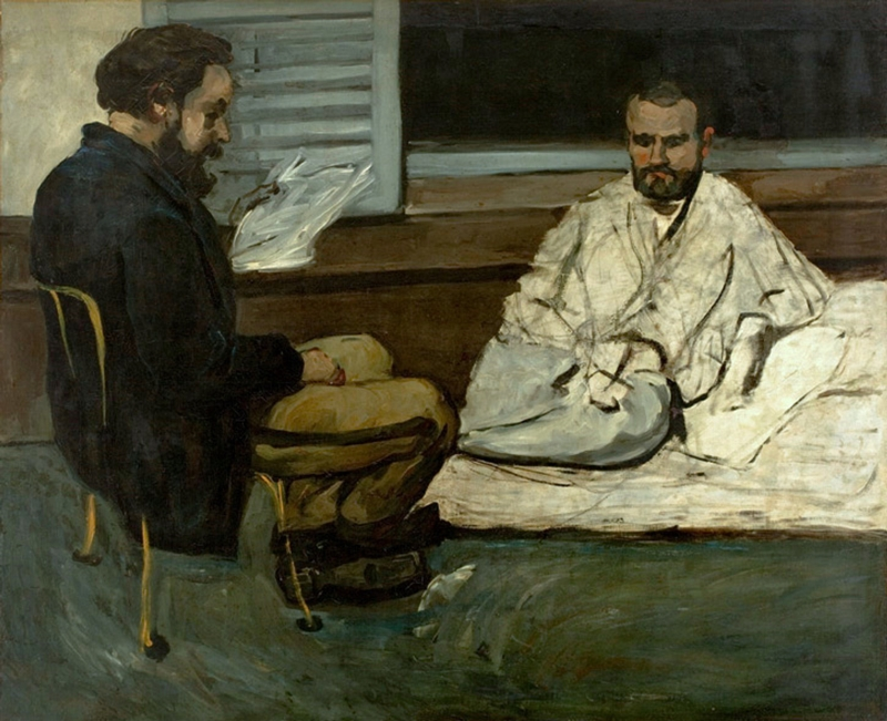 Paul Cezanne 1839-1906 - Paul Alexis reading Emile Zola manuscript, 1869