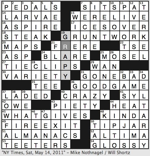 Rex Parker Does the NYT Crossword Puzzle: Broadway musical