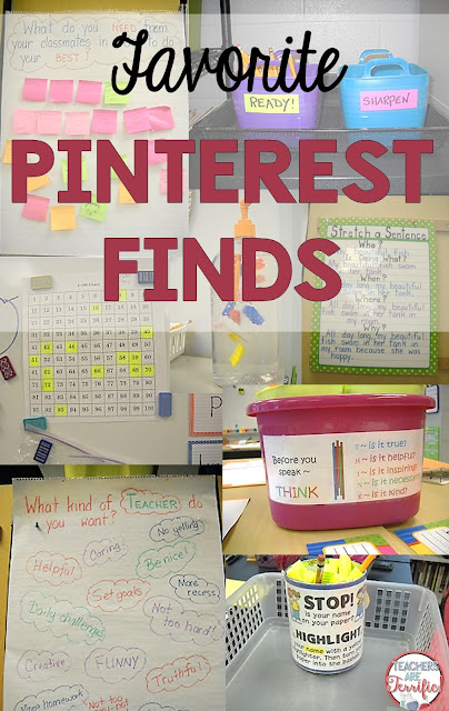 Favorite Pinterest finds for Classroom: Tried and true ideas that work and are easy to do!