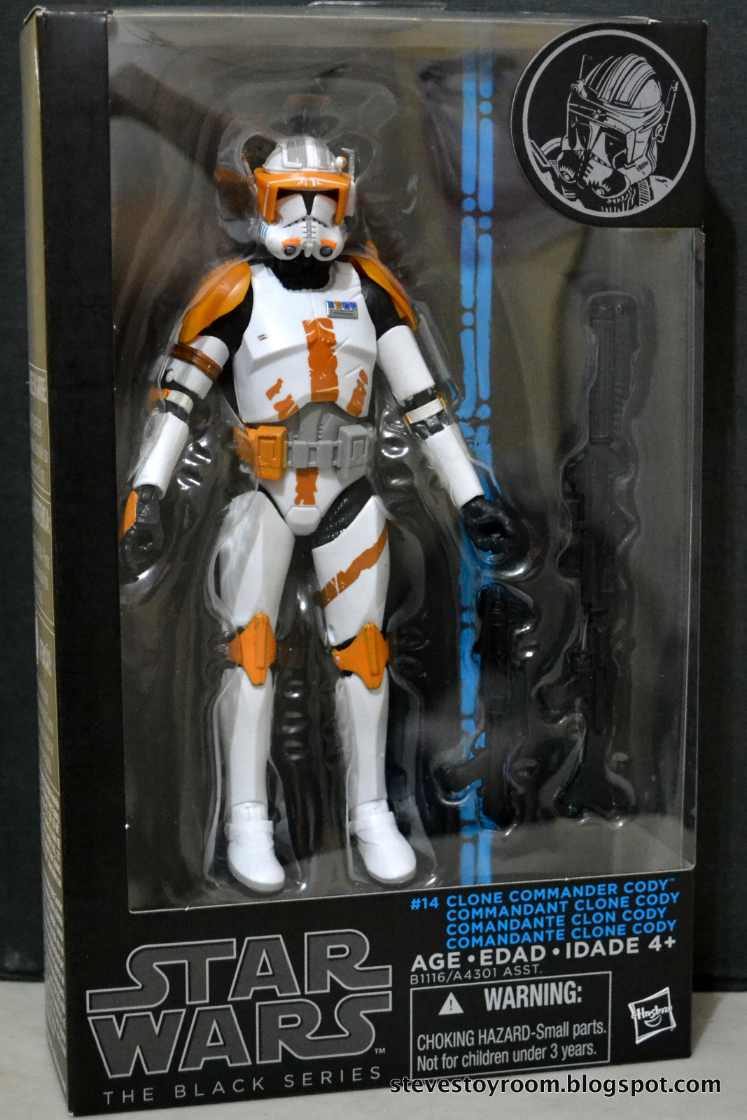 STAR WARS THE BLACK SERIES 6 INCH FIGURE #14 CLONE TROOPER ORANGE BOX