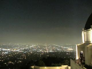 View south from the roof of Griffith Observatory
