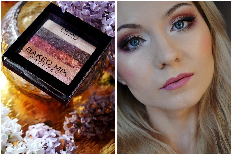 Wibo, Baked Mix Bronzed (puder brązujący) + makijaż
